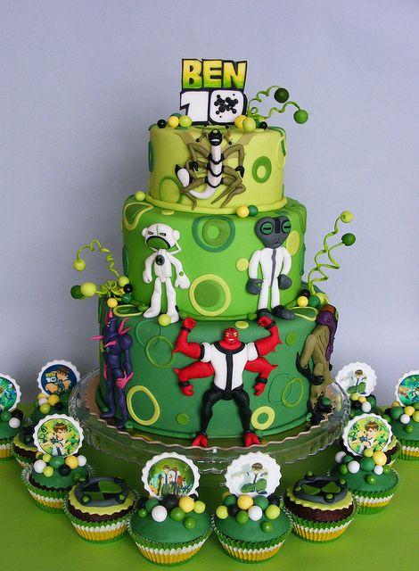 Ben 10 Cake And Cupcakes Bolo Do Ben 10 Festas De Aniversario