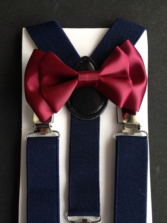 Handmade Burgundy Pre-tied Clip on Bow Tie for Baby//Toddler