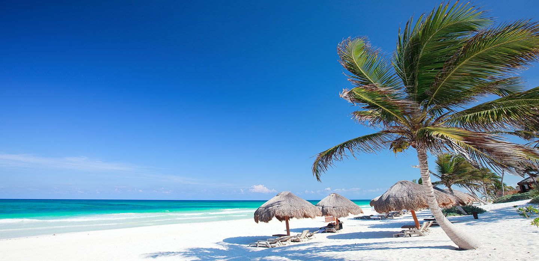 Playa Paraiso Beach Mexico Flight
