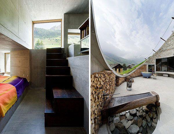 Underground Home Designs Swiss Mountain House Rocks Underground Homes House Design Architecture