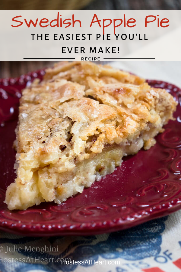 Swedish Apple Pie In 2020 Apple Pie Recipe Easy Easy Pie Swedish Apple Pie