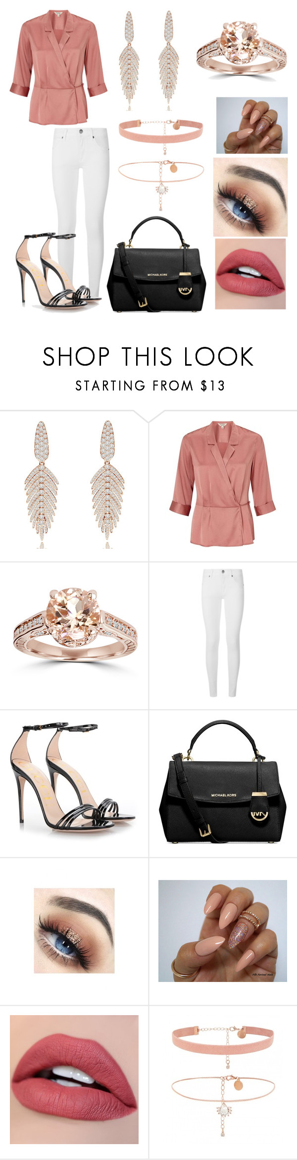"""""""16"""" by diana-azevedo-1 ❤ liked on Polyvore featuring Sutra, Miss Selfridge, Bliss Diamond, Burberry, Gucci and Michael Kors"""