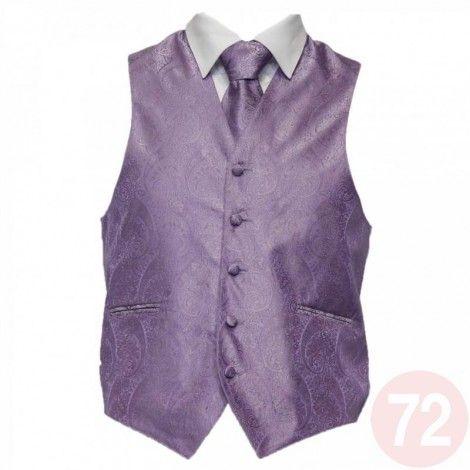 Amanti Mens 4pc Set Tuxedo Paisley Vest (Vest Tie BowTie Hanky)