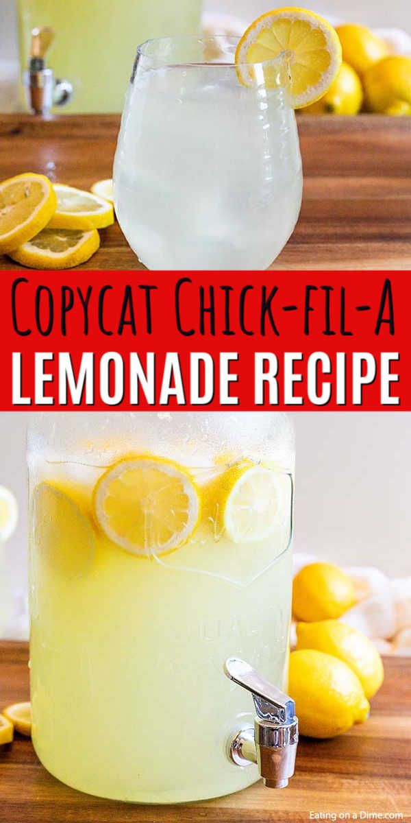Copy cat chick-fil-a lemonade recipe - Only 2 ingredients