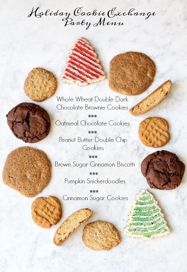 Holiday Cookie Exchange Party Menu Cookie exchange party