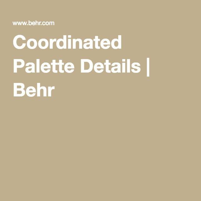 Gobi Desert Coordinated Palette Details Behr Behr Paint Behr Desert Colors