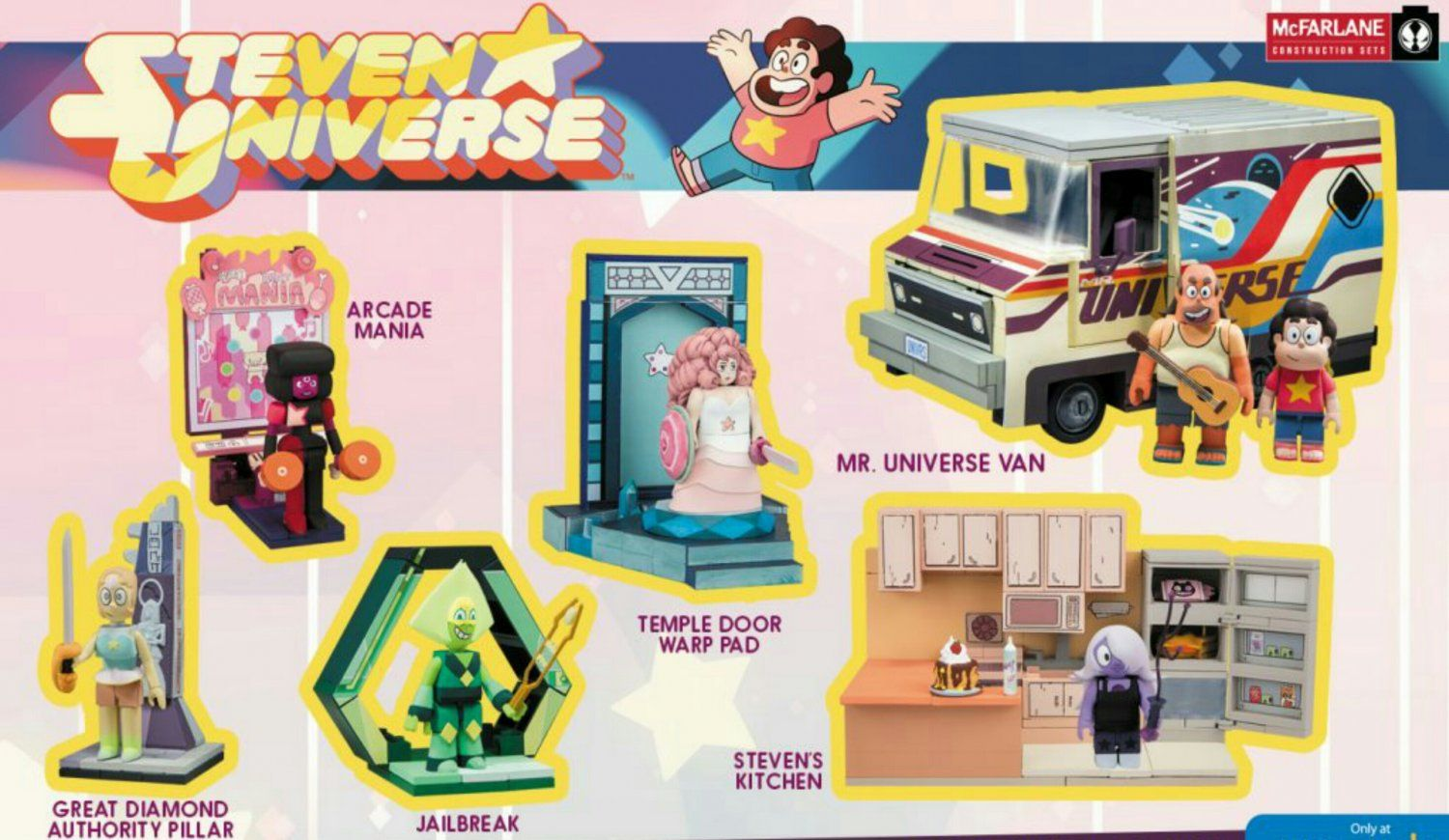 STEVEN UNIVERSE GARNET WITH ARCADE MANIA CONSTRUCTION SET 50 pieces New