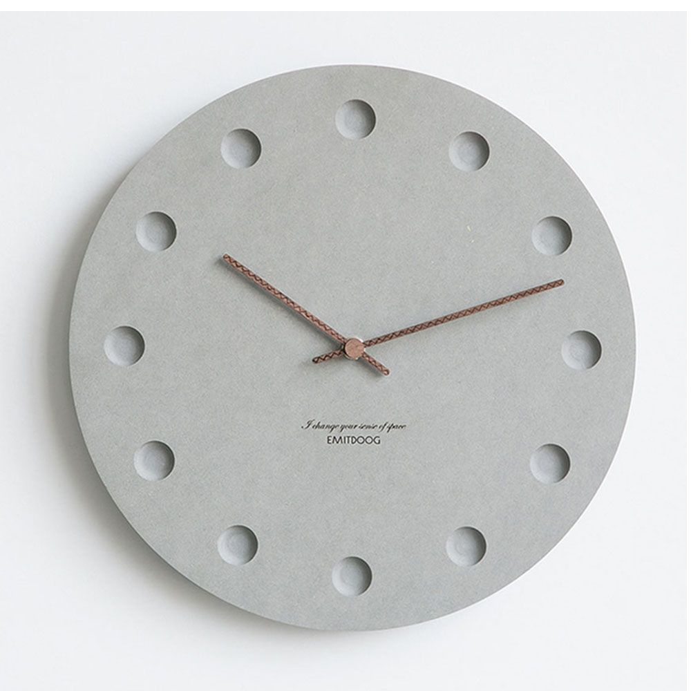 12 Inch Nordic Wall Clock Modern Creative Clock Minimalist Living Room Hanging Clock Bedside Mute Wood Clock Hom Wall Clock Modern Clock Wall Decor Clock Decor