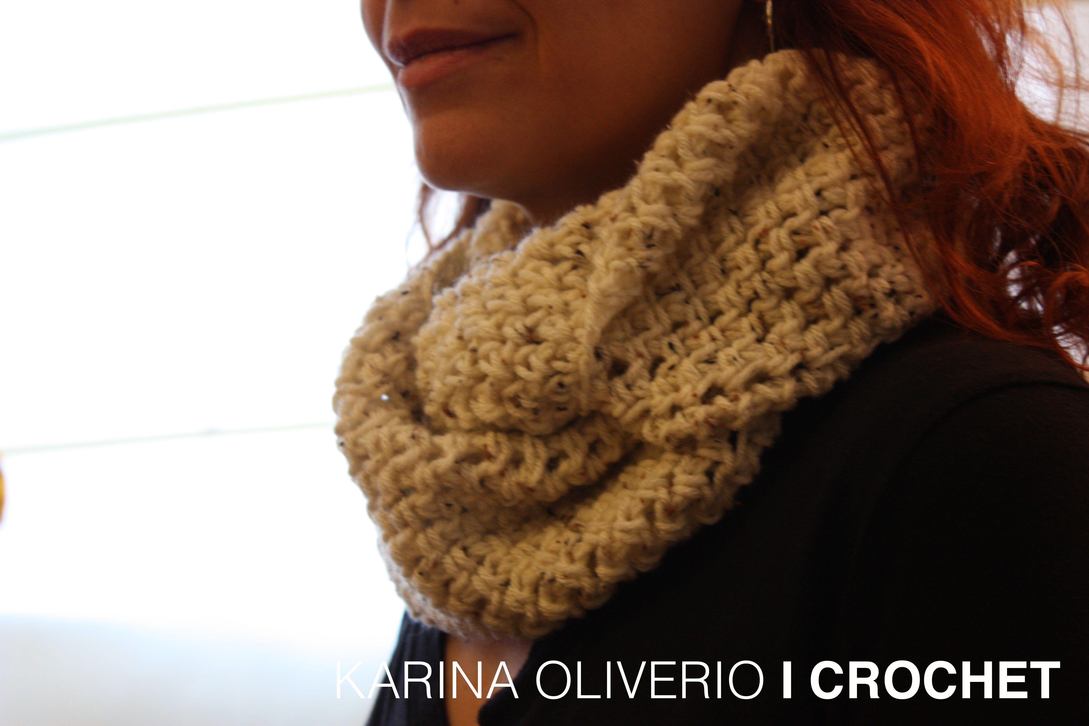 Crochet infinitive scarf pattern, bufanda infinita a crochet con ...
