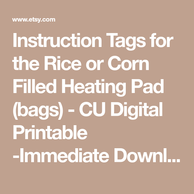 This is a graphic of Effortless Printable Rice Bag Instructions