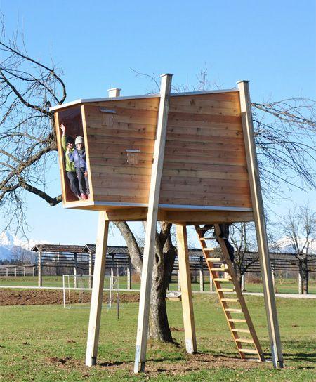 Free Standing Tree House Plans freestanding treehouse.. i like it :) | great idea's | pinterest