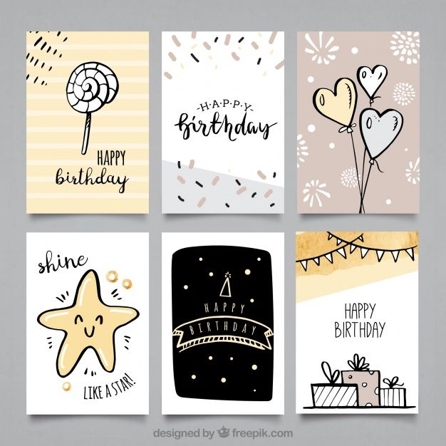 Pack Of Birthday Cards With Cute Drawings Birthday Card Drawing Happy Birthday Cards Handmade Creative Birthday Cards