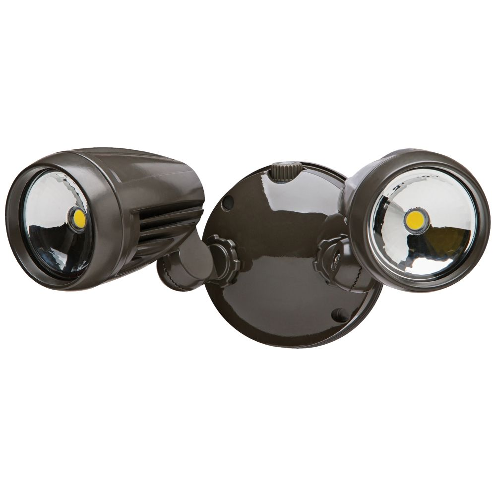 Brookdale 2 Light Dusk To Dawn Led Security In Bronze Style 3r693