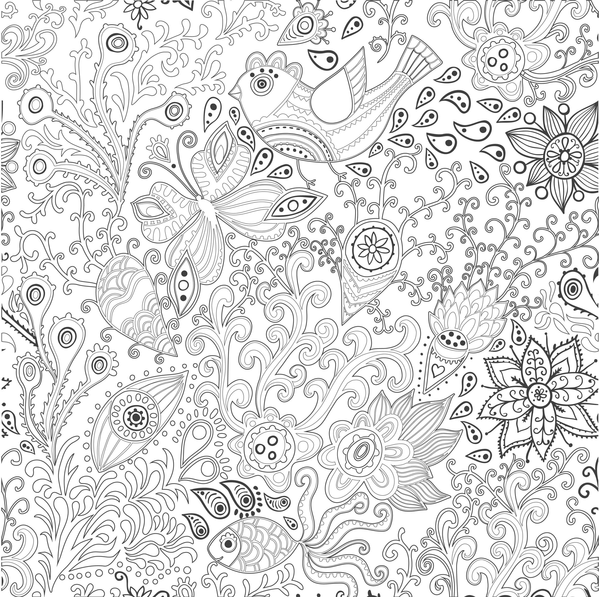 coloriage anti stress difficile