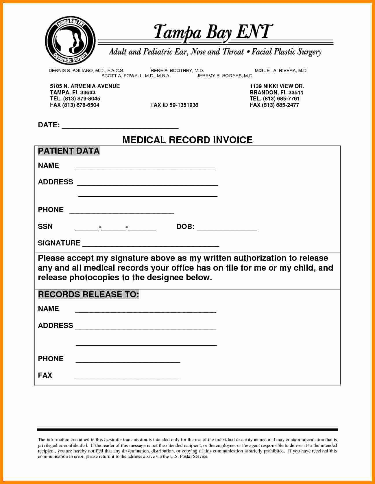 Medical Records Invoice Template Unique 4 Medical Records Invoice Invoice Template Medical Records Medical
