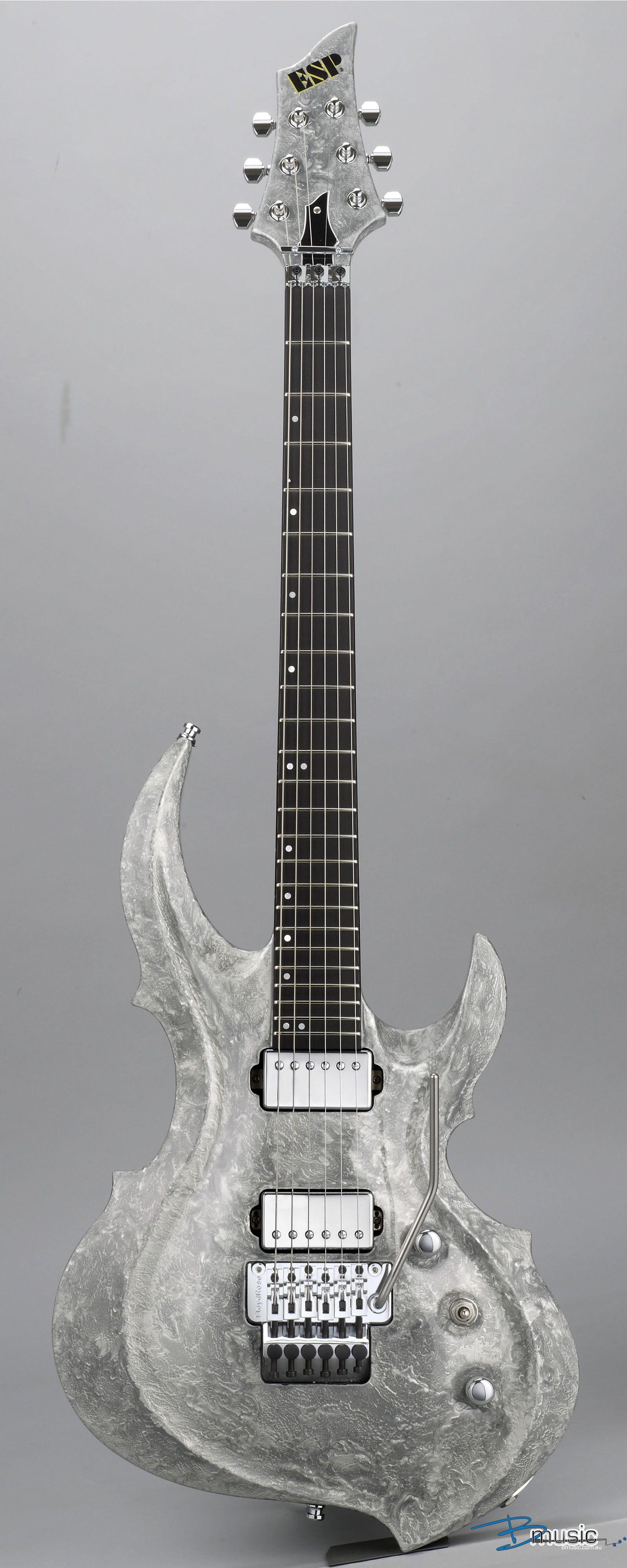 Esp Frx Ctm Liquid Metal Silver Gitary Elektryczne Gitara