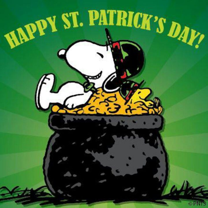 st patrick's day snoopy yard flag