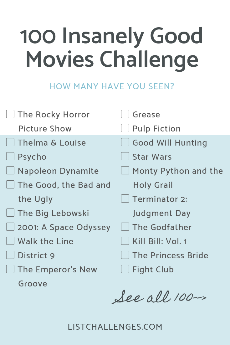 100 Insanely Good Movies #moviestowatch