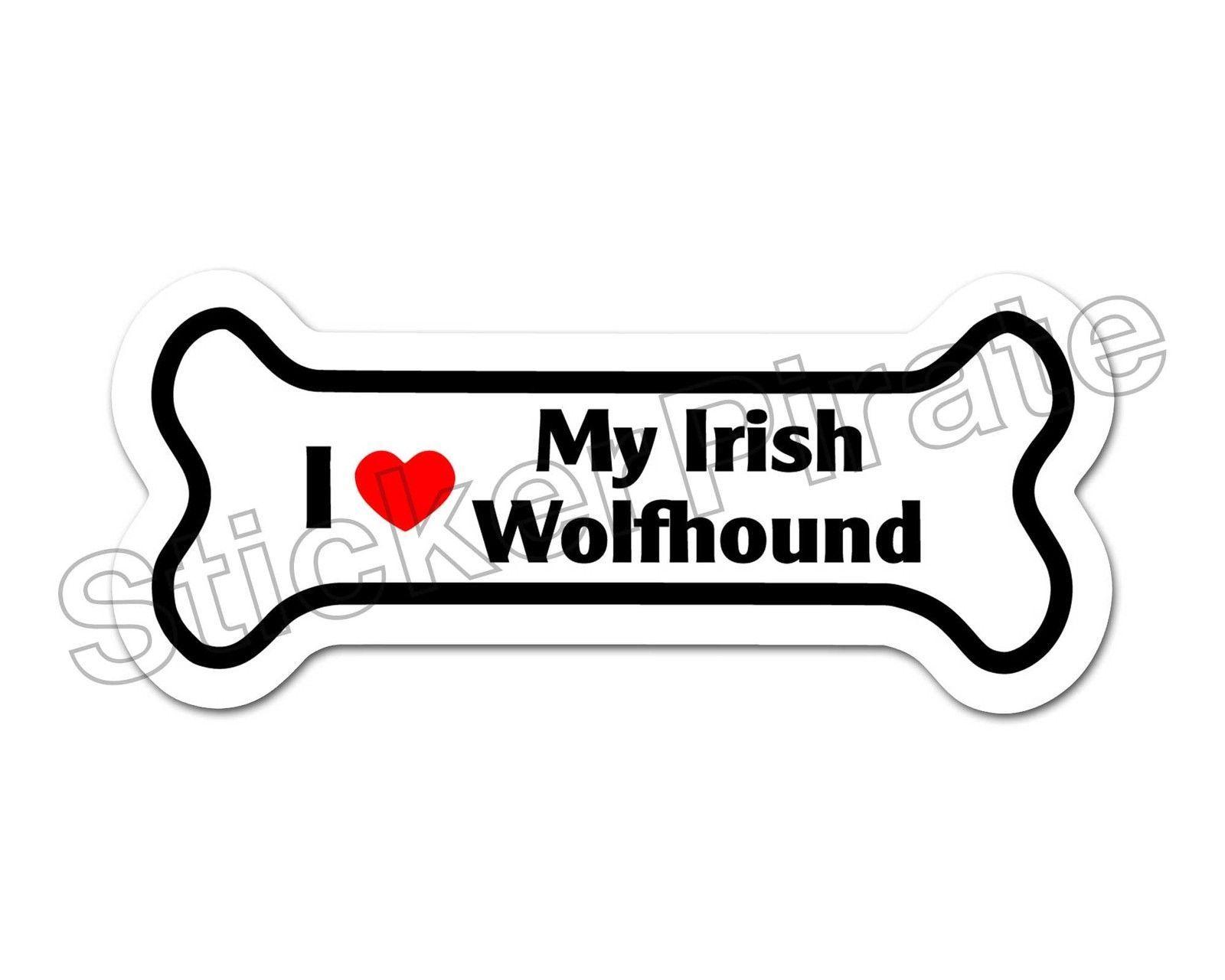 I LOVE MY TOY FOX TERRIER Dog Bone Shaped Car Magnets