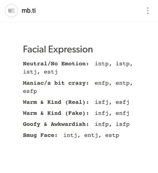 ISTP facial expressions   ISTP   Intp personality, Infp