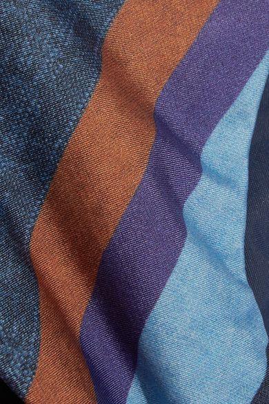 Chambray Rope Striped Bikini Briefs - Blue Vix Buy Cheap 100% Authentic zAv6C3R