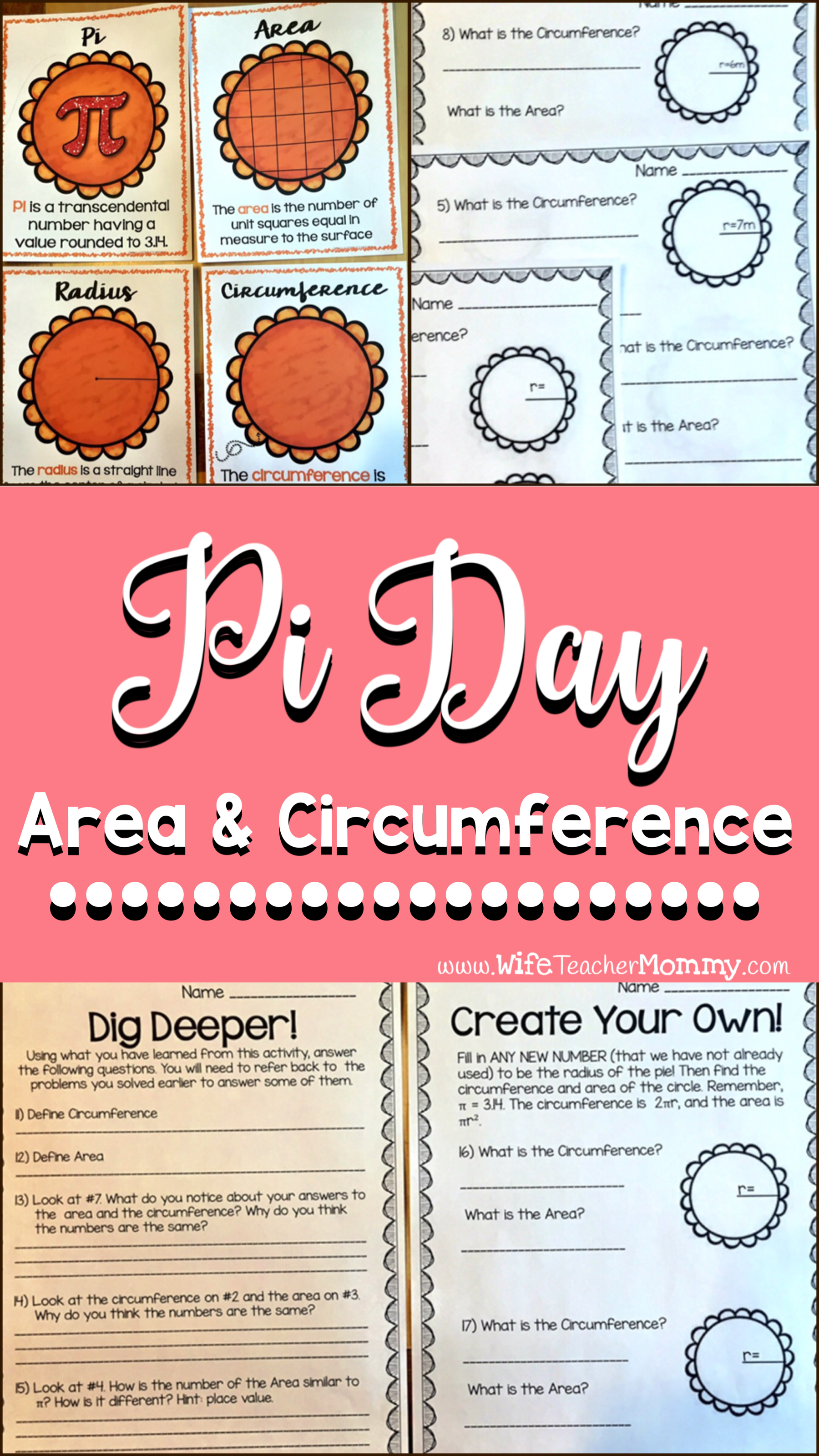 worksheet Pi Worksheets pi day area and circumference critical thinking worksheets for pie in these engaging pie