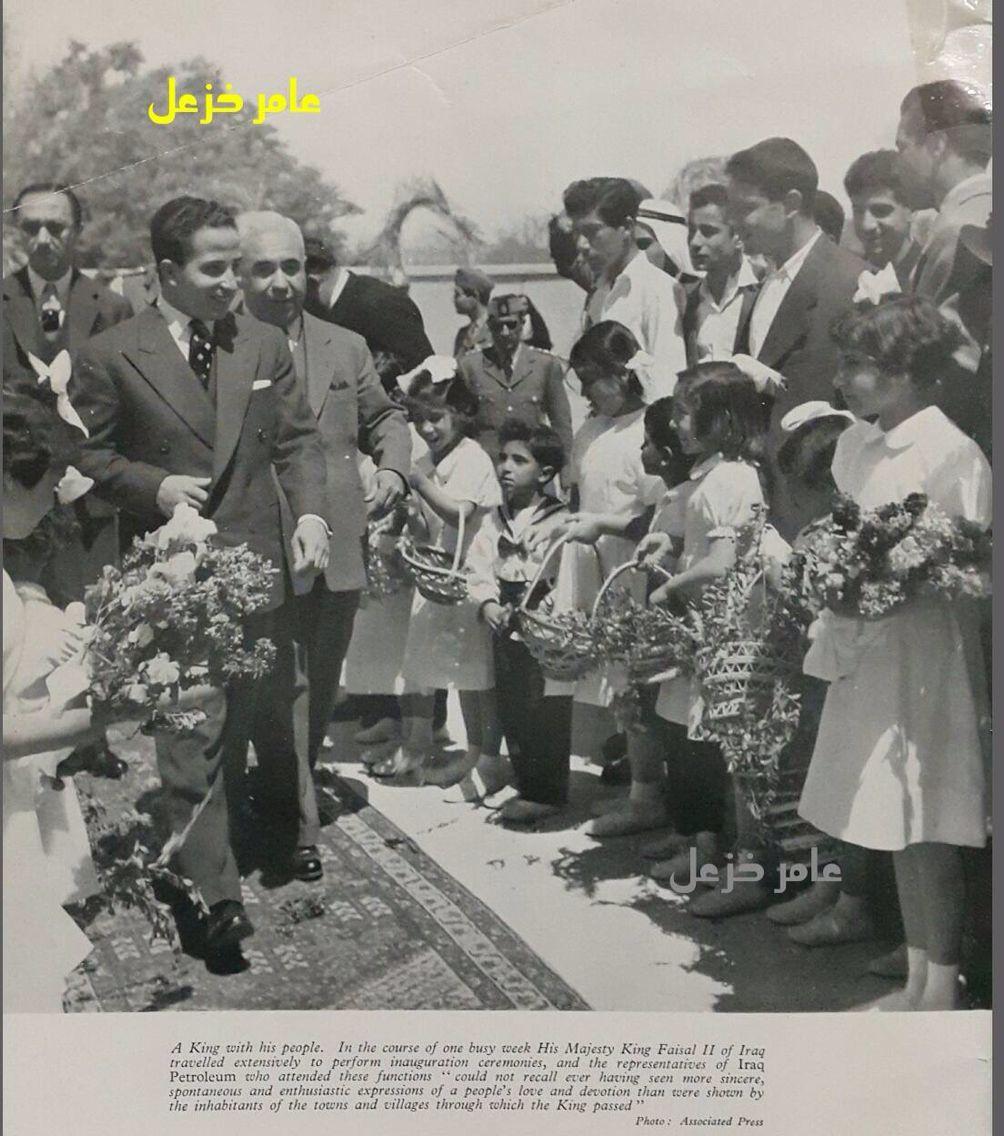 صوره نادره للملك فيصل الثاني عام 1956 Political History Inauguration Ceremony Historical Photos