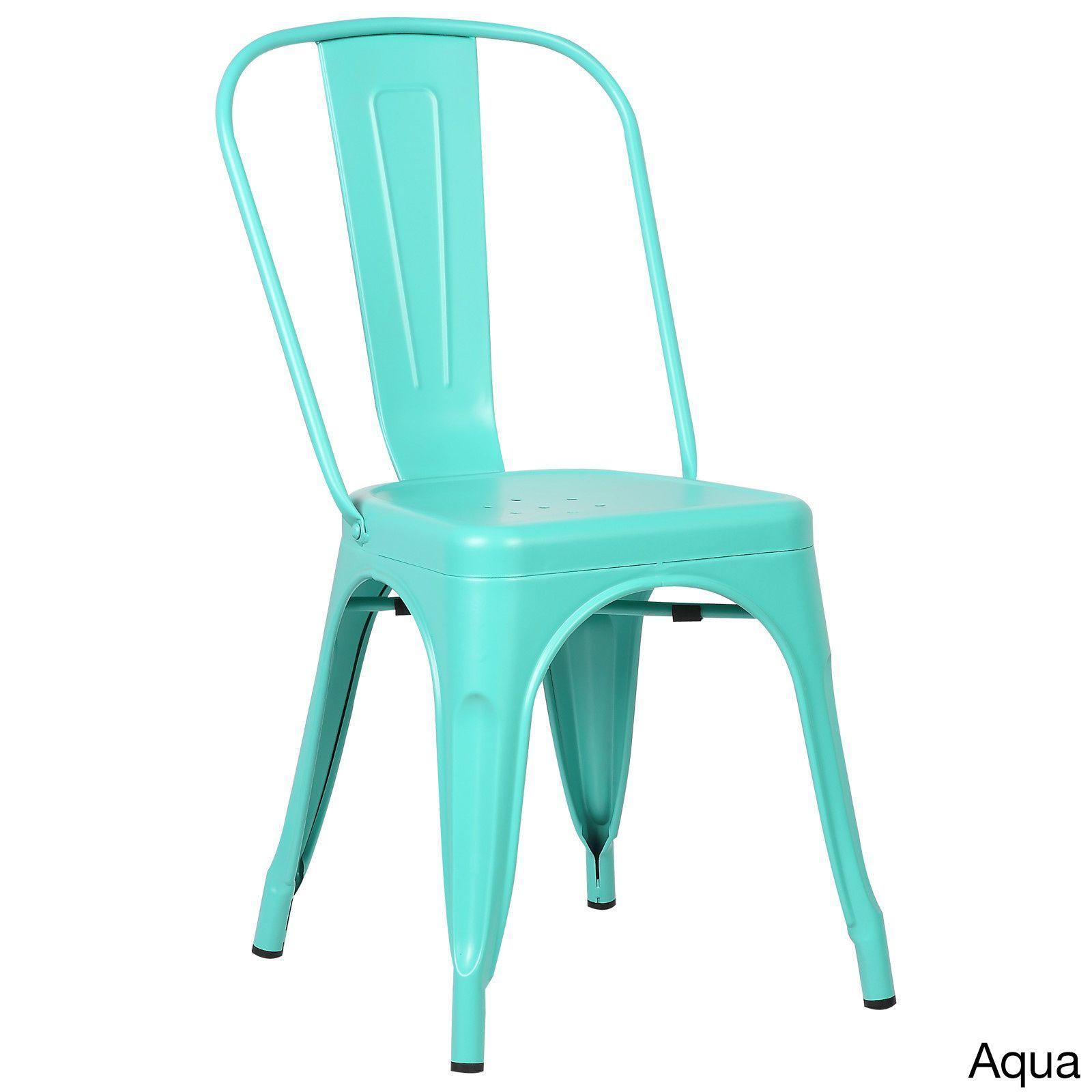 Edgemod Trattoria Matte Dining Chairs (Set of 2) (White) (Metal ...