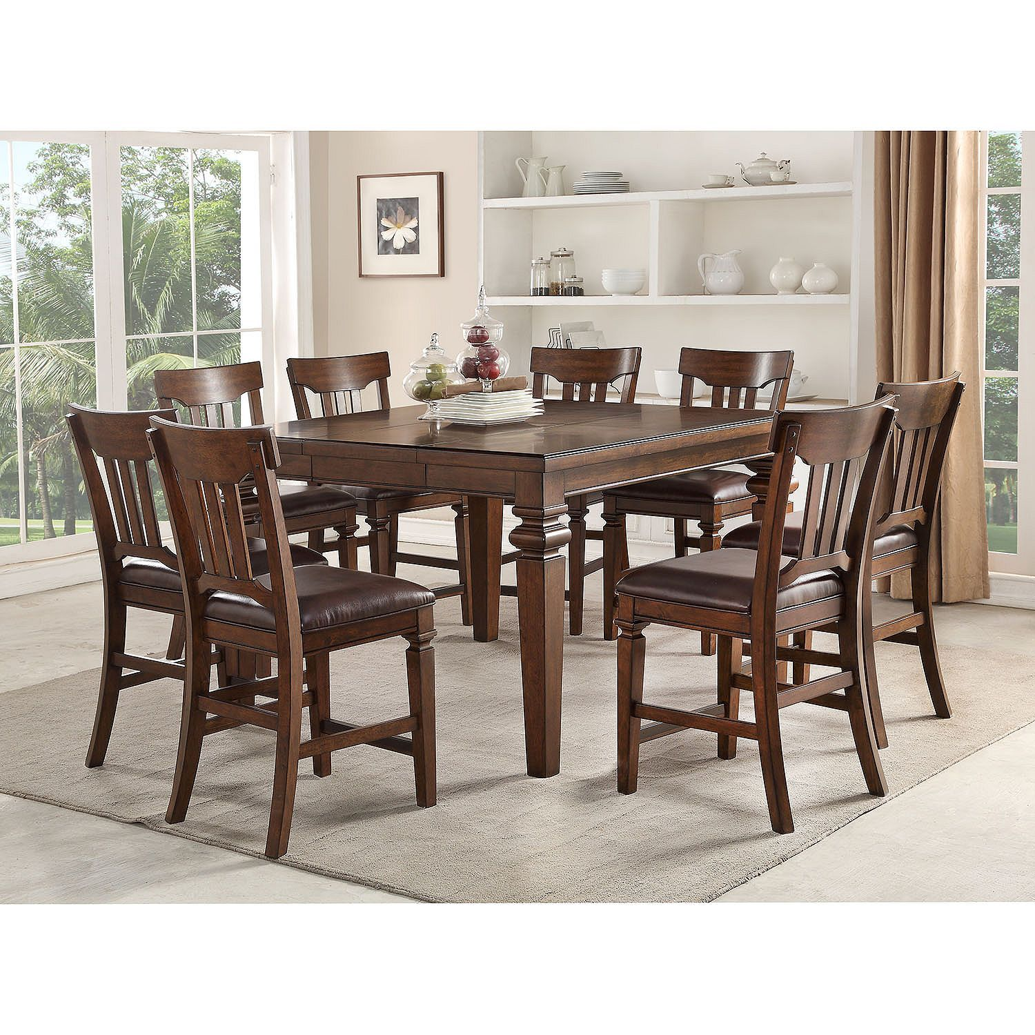 Member S Mark Carter 9 Piece Counter Height Dining Set Counter