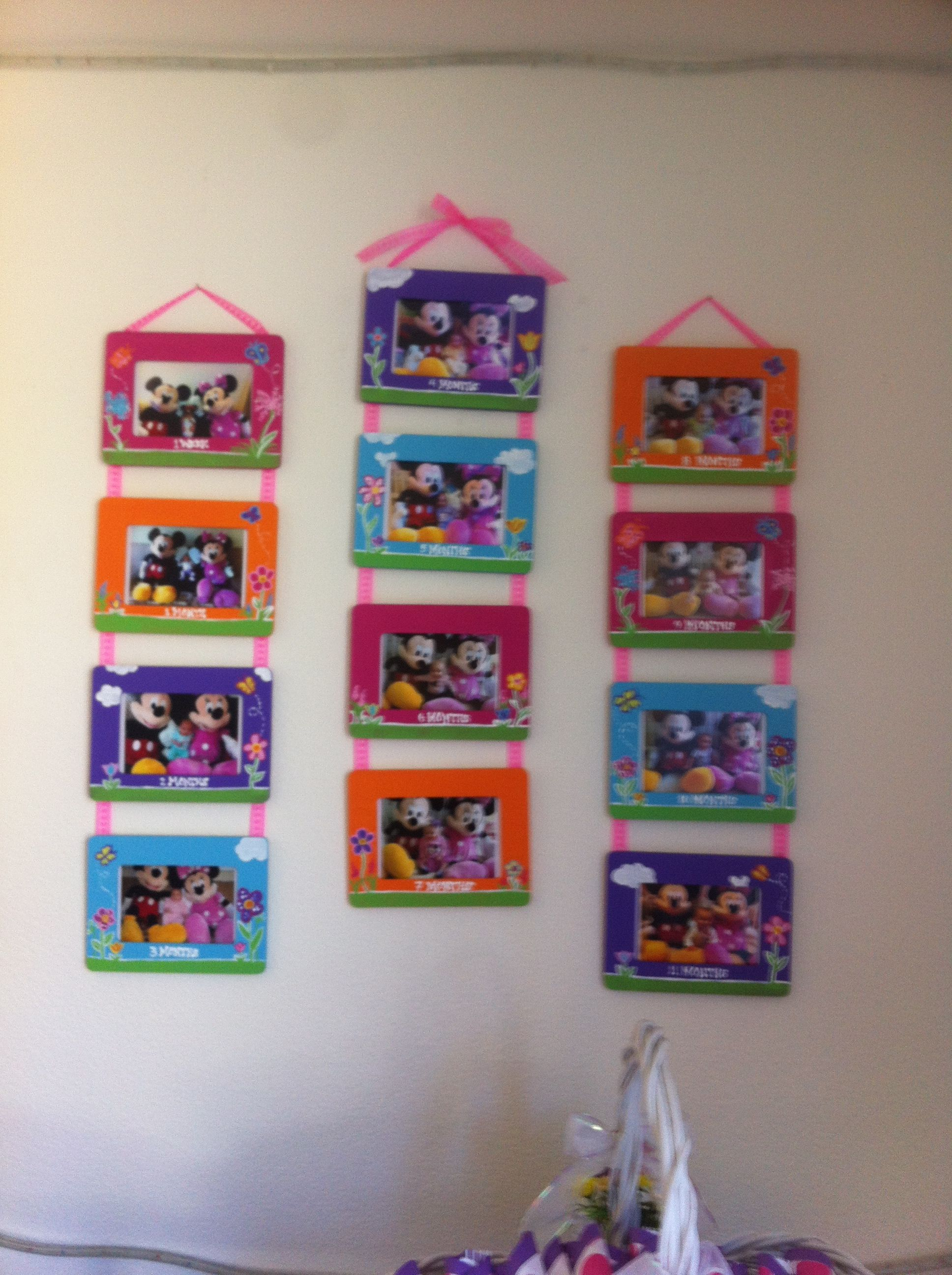 Growth Chart 1st Year Minnie Mouse Birthday Pinterest Growth