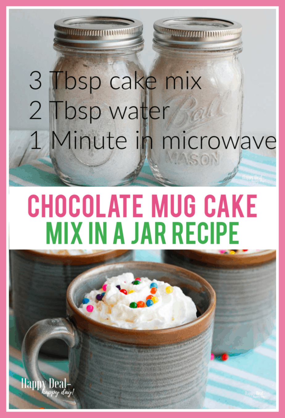 Chocolate Mug Cake Mix in a Jar | Recipe | Cake mix in a ...