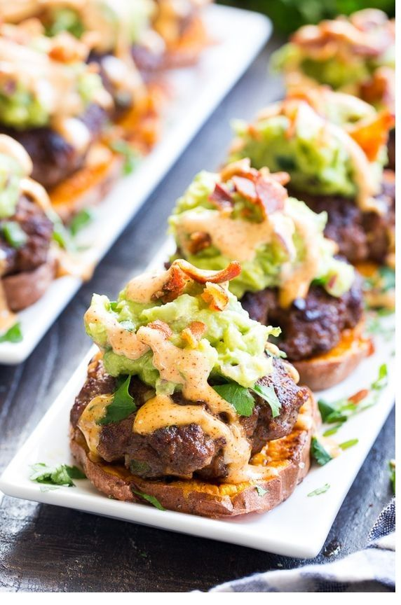 LOADED TACO SWEET POTATO SLIDERS images