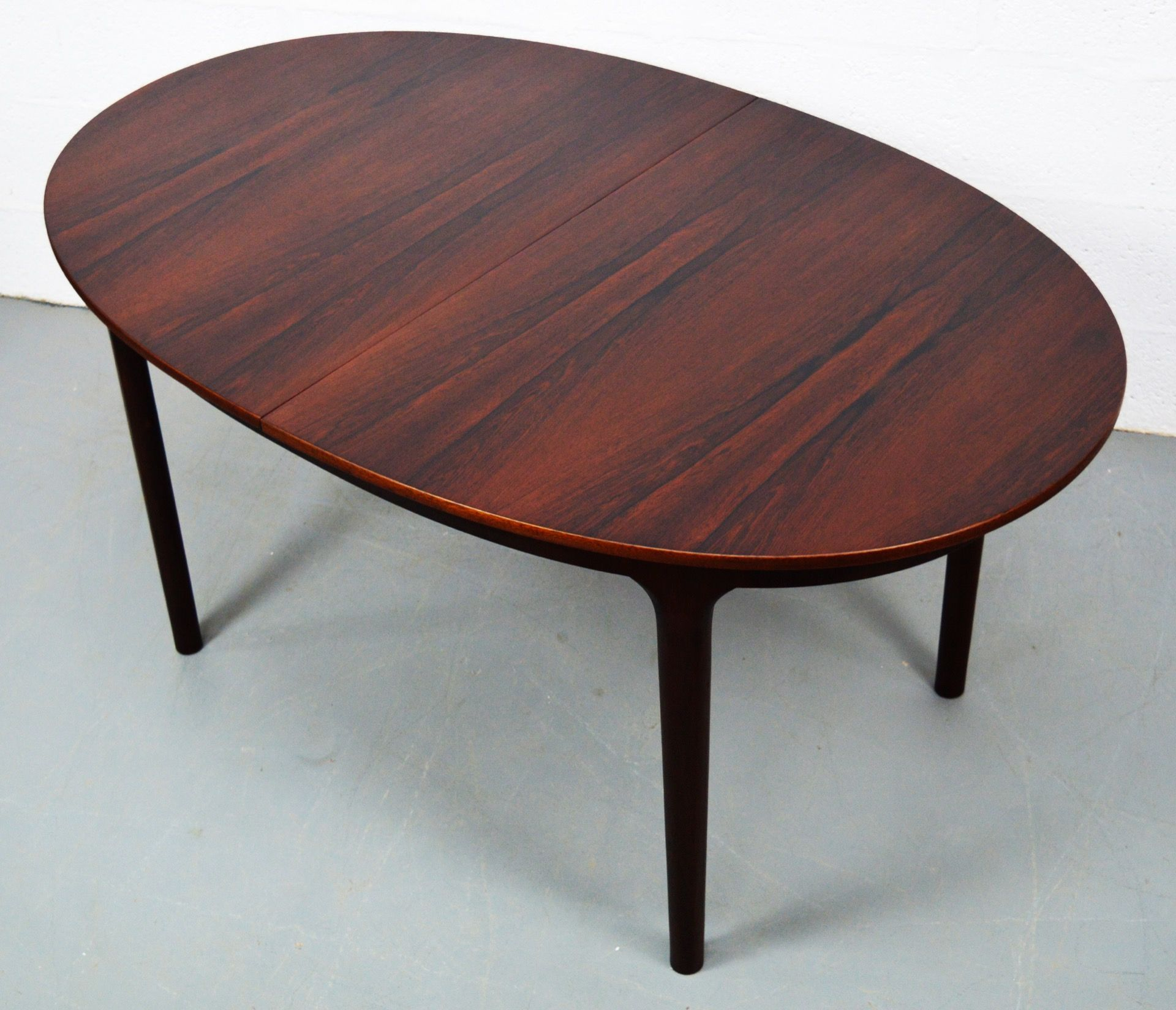 Mid Century Oval Rosewood Dining Table By McIntosh