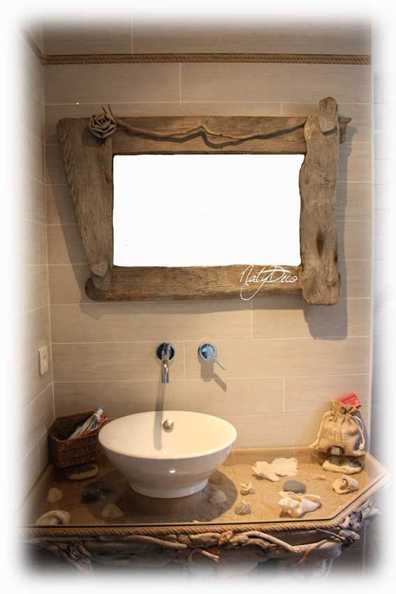 meuble de salle de bain en bois flotté NATYDECO http//www.natydecocorse.com