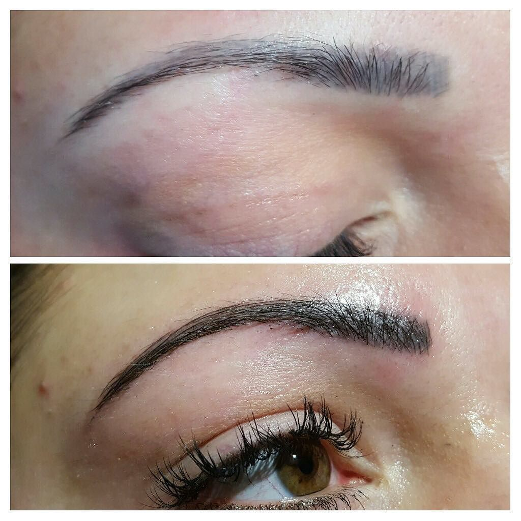 Faded Semi Permanent Tattooed Eyebrow Top Fresh Microblading