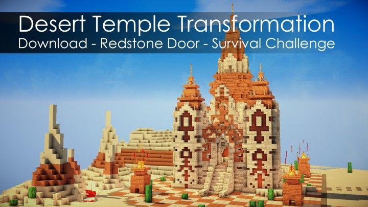 Transformation of Desert Temple Redstone secret door