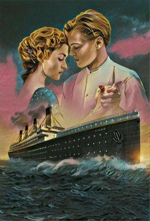 Titanic movie art repin, jack & rose cover poster   Movie ...