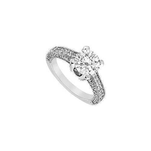 Diamond Engagement Ring : Platinum - 1.20 CT Diamonds