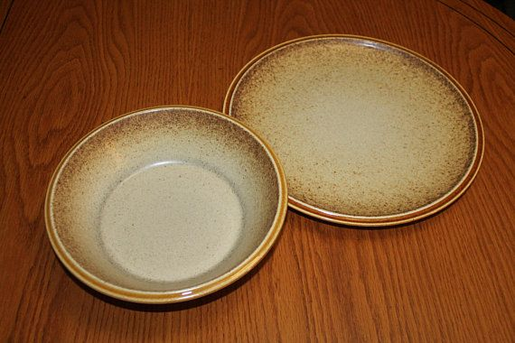 Vintage Mikasa Stylekraft Stoneware Chop Plate and Serving Bowl - Mid Century Modern Oven to Table & Vintage Mikasa Stylekraft Stoneware Chop Plate and Serving Bowl ...