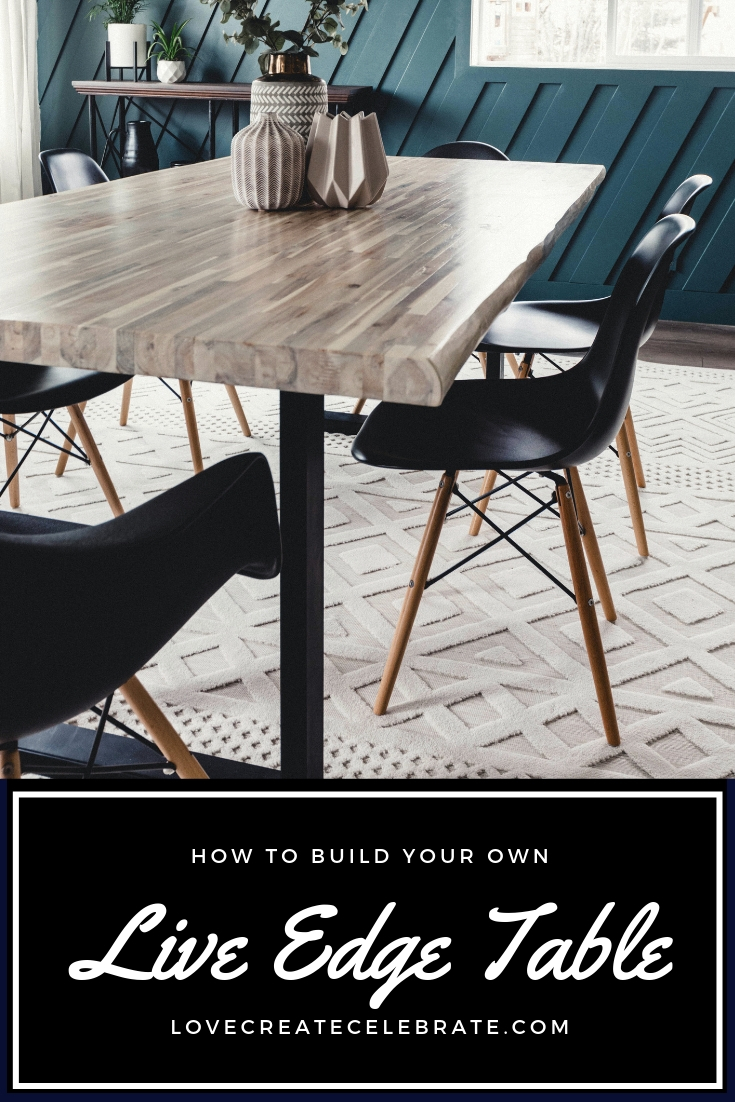 How To Build A Diy Live Edge Table Live Edge Table Modern