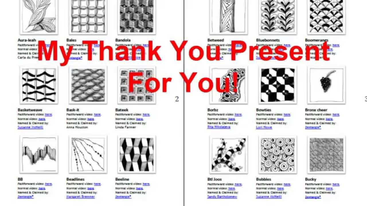 Zentangle Patterns Overview Pdf Free To Download Zentangle