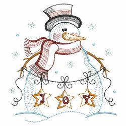 Vintage Snowman 6 03(Md) machine embroidery designs