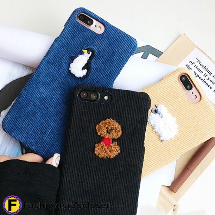 67c77b0088 送料無料】キュートなアニマル刺繍付iPhoneケース。*iPhone6/6S/6+/6S+ ...