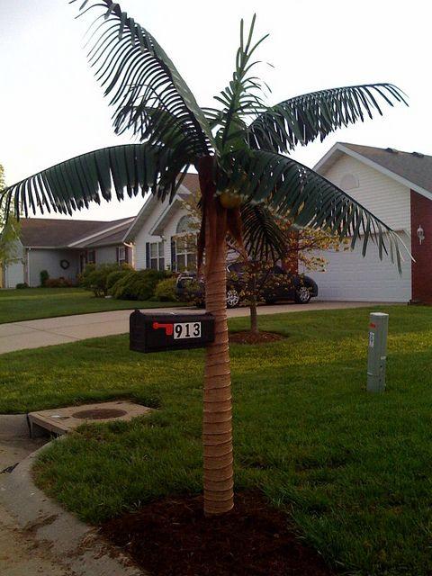 artificial palm tree mailbox