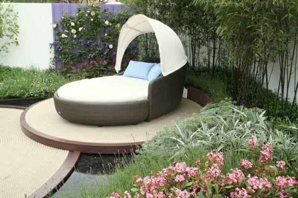 Gartengestaltung-Ideen-Bett-im-Garten - 30 Gartengestaltung Ideen – Der Traumgarten zu Hause