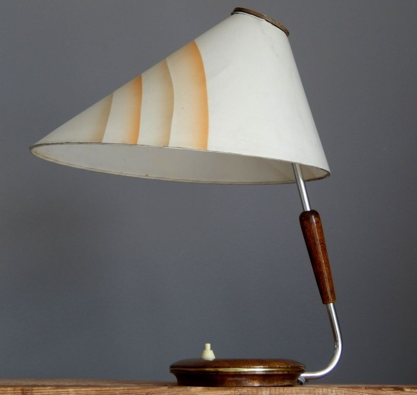 Vintage 50 S Fehag Halle Art Deco Style Wood Lamp Light Desk Lighting German Art With Images Wood Lamps Lamp Art Deco