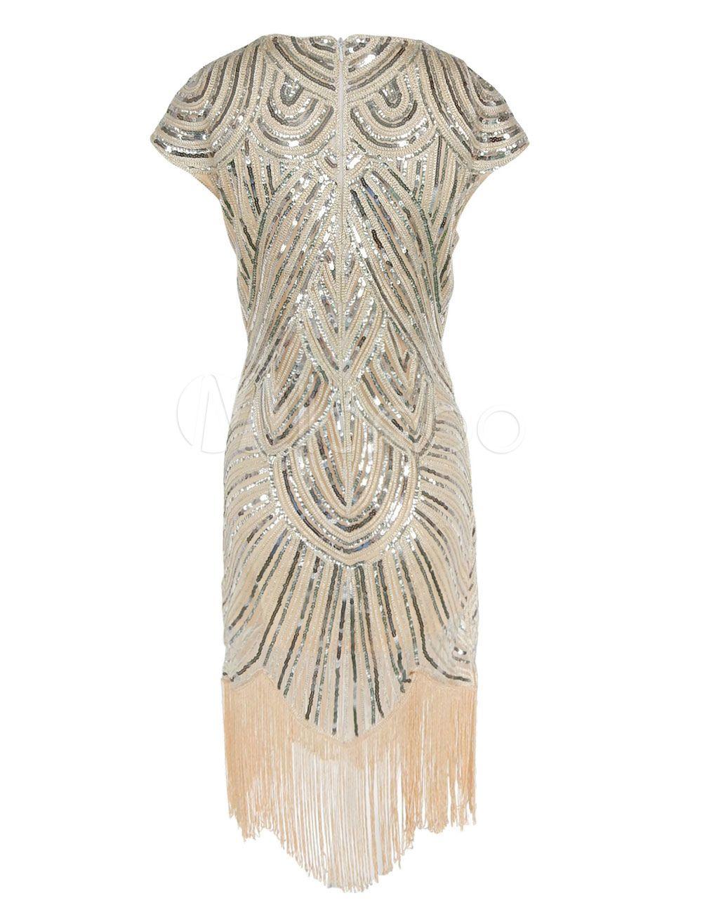 1920er Jahre Flapper Kleid große Gatsby Kleid Damen Pailletten ...