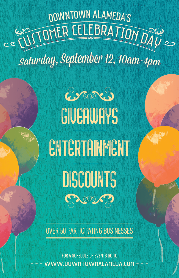 Join us for Customer Celebration Day in Downtown Alameda