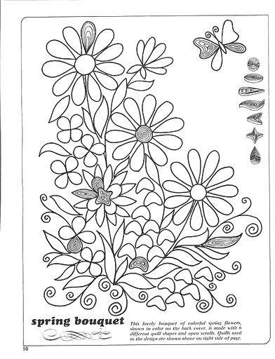 Patron quilling plus quilling pinterest paperolles - Modele dessin fleur ...