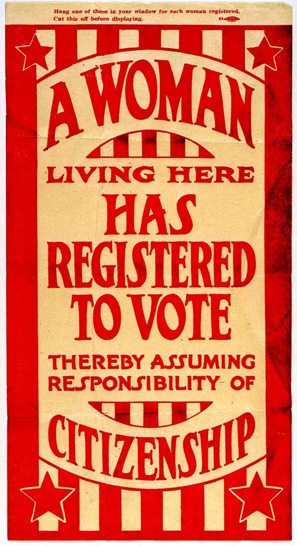 c. 1920  Suffrage Flyer  MHS Collections. Missouri History Museum
